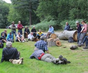 Lynne talks about fungi in wood